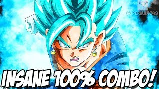 10,000 DAMAGE COMBO FINISHED WITH VEGITO'S FINAL KAMEHAMEHA! - Dragon Ball FighterZ: Vegito, Beerus