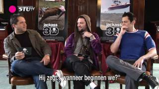 StuTV - Jackass 3D Amsterdam Funny Interview Johnny Knoxville, Bam Margera, Jeff Tremaine