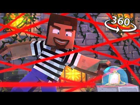 ESCAPE The HEIST! - Minecraft 360° Video