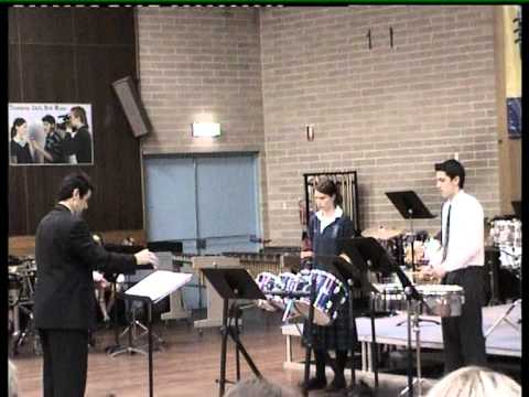Brighton Secondary School SA Percussion Showcase 2006 Yr 10 Duet for Tom Toms.mpg