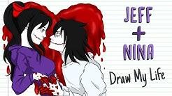 JEFF + NINA 💘 VALENTINE'S DAY | Draw My Life | Creepypasta Special Love Story