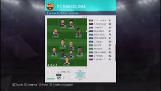 Formação Barcelona Pes 18 Coutinho