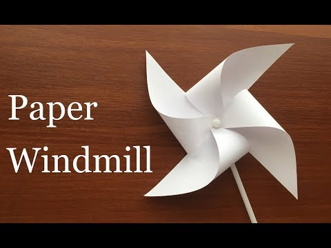 DIY How To Make Paper Windmill (Pinwheel). Easy Project for Children