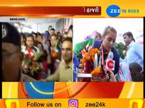 Winners Of Asian Games 2018 Welcomed At Ahmedabad Airport - Zee 24 Kalak