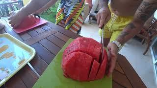 Египет2020 Эль Гуна Как нарезать арбуз быстро просто и удобно