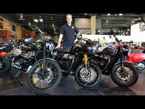 Come check out the brand new Triumph Thruxton TFC, Scrambler , and Speed Twin! On display now!