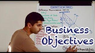Y2 9) Objective of Firms - Profit Max, Rev Max, Sales Max, Satisficing