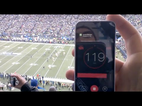 Decibel Meter of Roaring Crowd Noise - Century Link Field: Seahawks Packers NFC Championship