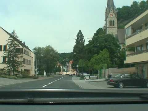 Driving through Liechtenstein 5 - Inside Vaduz