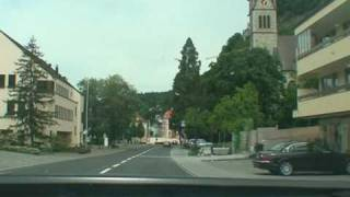 Driving through Liechtenstein 5 - Inside Vaduz