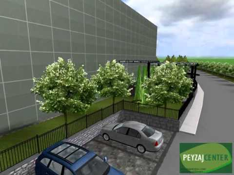 landscape design for a factory storage in Hadımköy
