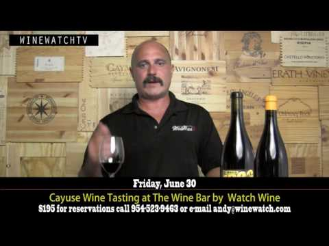Cayuse Wine Tasting at Wine Watch Wine Bar - click image for video