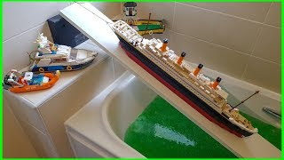 LEGO BOAT LAUNCH FAILS IN SLIME !!!