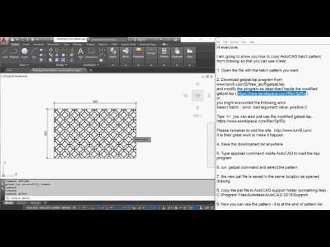 Copy AutoCAD pattern from another drawing and use it later