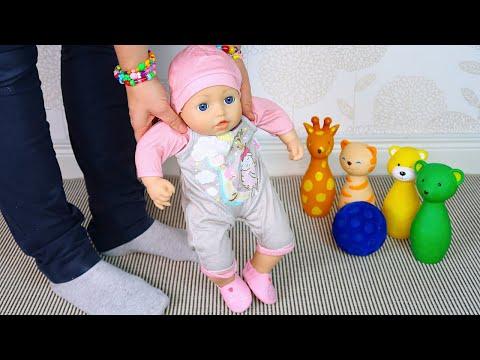 Беби Анабель Учится Ходить Мультики для детей Как Мама Играла в Куклы Пупсики 108мама тв
