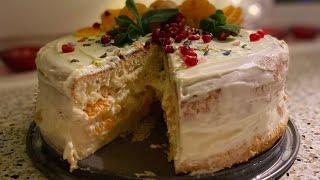 Мандариновый торт новогодний и очень нежный