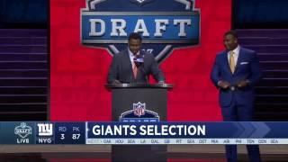 Giants Select QB  Davis Webb No. 87