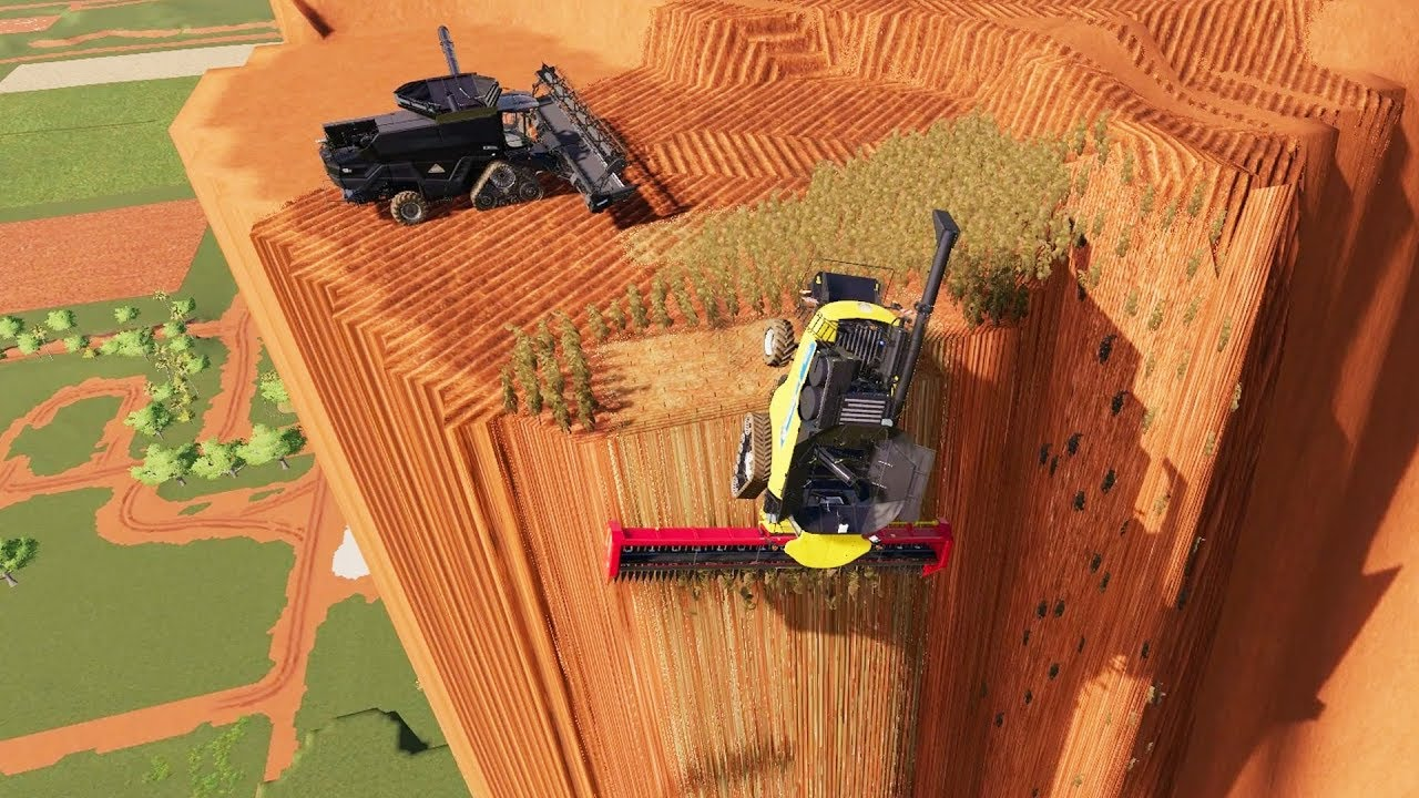I Built a Farm on a 90 Degree Angle and This Happened - Farming Simulator 19