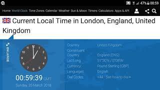 Clocks go forward : BST start in London, United Kingdom (2018)