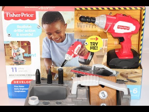 Fisher-Price Drillin' Action Tool Set (How To Play) : Product Information