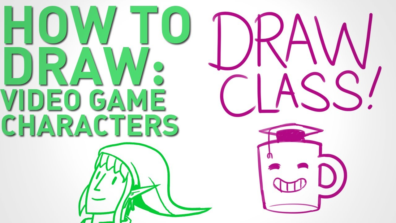 How To Draw Video Game Characters Draw Class Youtube