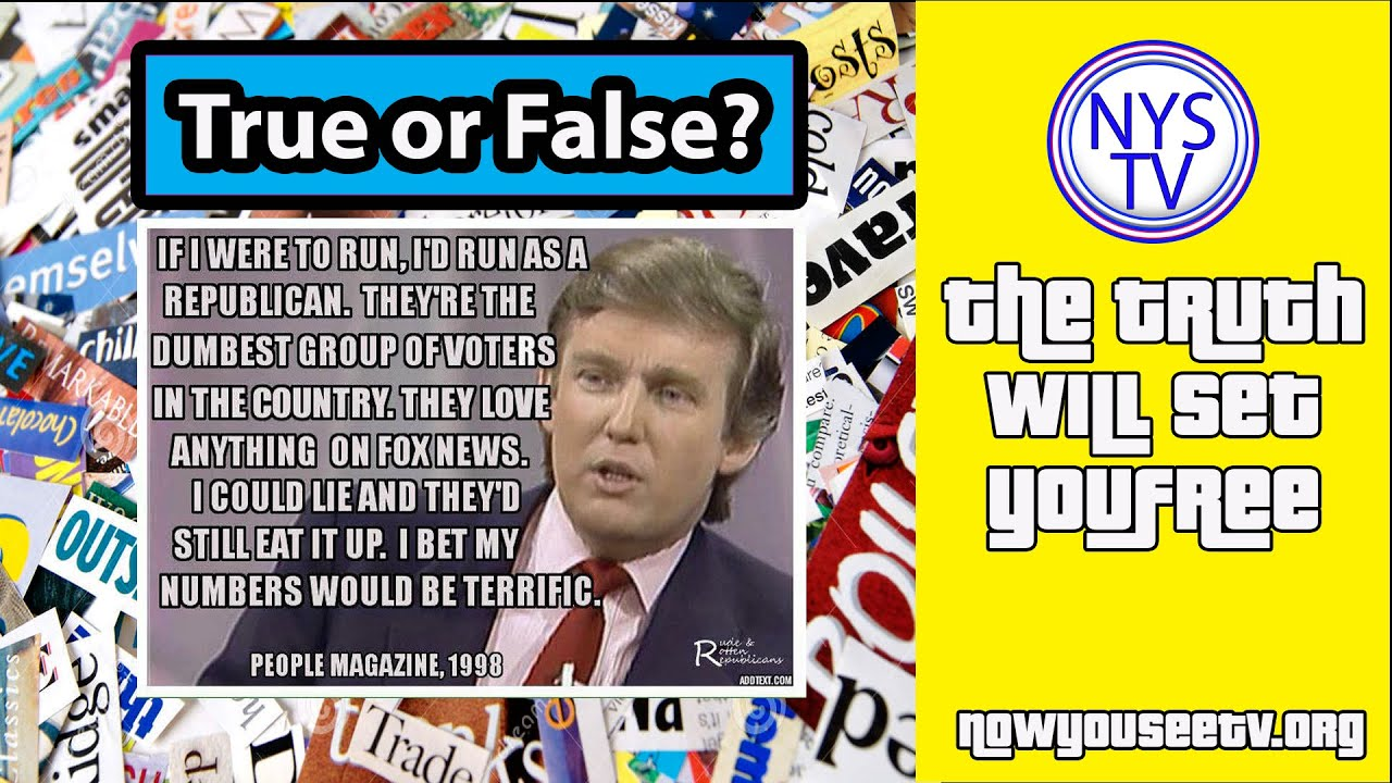 """People Magazine Trump Quote 1998: What Did Donald Trump Say?! """"Republicans Are Dumb"""" True Or"""