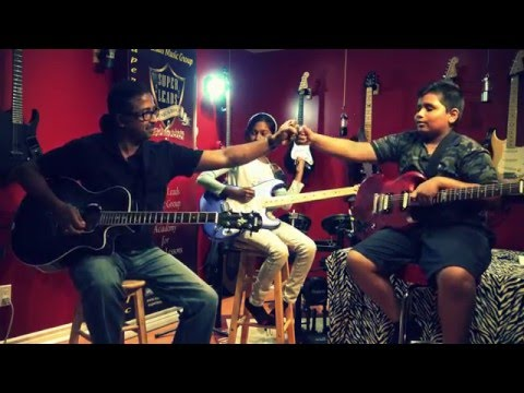 Jodi Nilave - Live Guitar Instrumental by Anjana & Mathushan