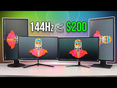 Best 144Hz Gaming Monitors Under $200 - 2019