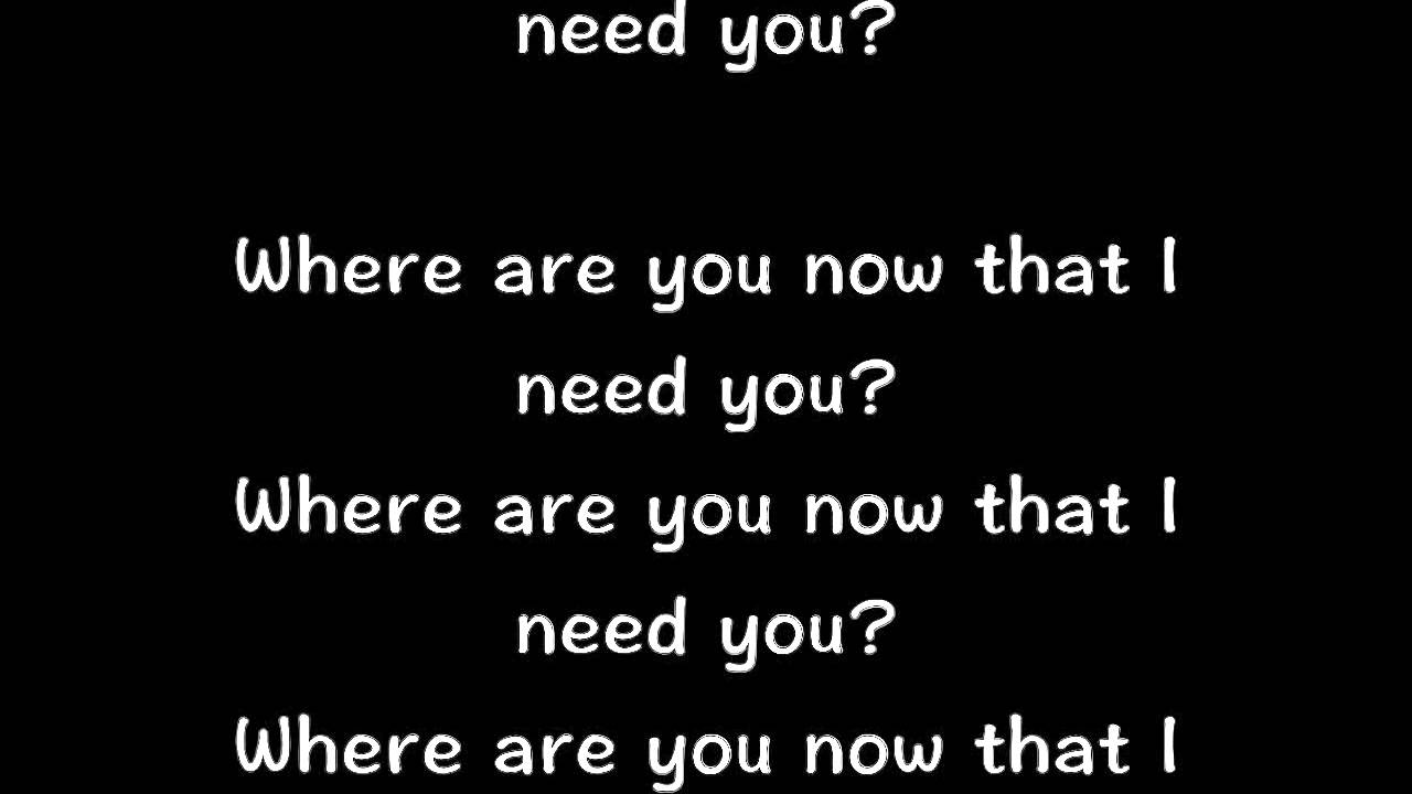 Justin Bieber - Where Are You Now? (Song Lyrics) - YouTube