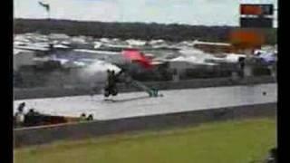 Dragster crash at Euro Finals 2002