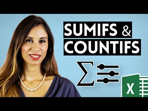 Simple Explanation of Excel SUMIFS, COUNTIFS & AVERAGEIFS (Multiple Criteria)