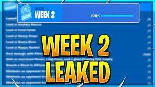 FORTNITE SEASON 9 WEEK 2 CHALLENGES LEAKED! WEEK 2 ALL CHALLENGES EASY GUIDE! (Fortnite Challenges)