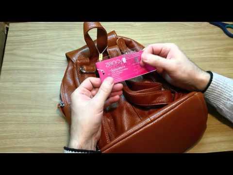 Посылка из Китая( рюкзак из натуральной кожи )