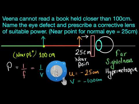 Numerical on hypermetropia (Hindi) | Human eye and the colourful world | Physics | Khan Academy