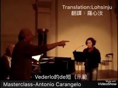Antonio Carangelo masterclass I