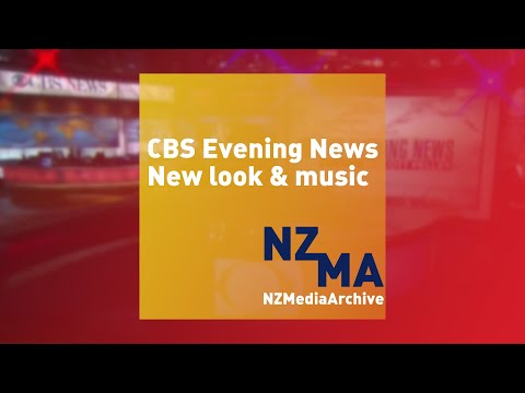 CBS Evening News new theme and look