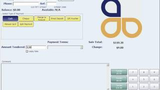 Customer loyalty system example in amicus pos