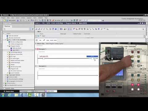Creating Tags for Inputs and Outputs on the Siemens PLC - Unit 6