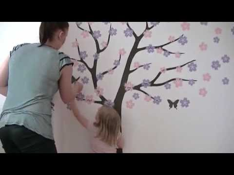 Wall decals installation video by Surface Inspired