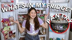WHAT'S IN OUR FRIDGE + PANTRY! | ASHLEY SANDRINE