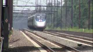 Amtrak Seven Car Acela with 10003 Acela High-Speed Geometry Car!!!