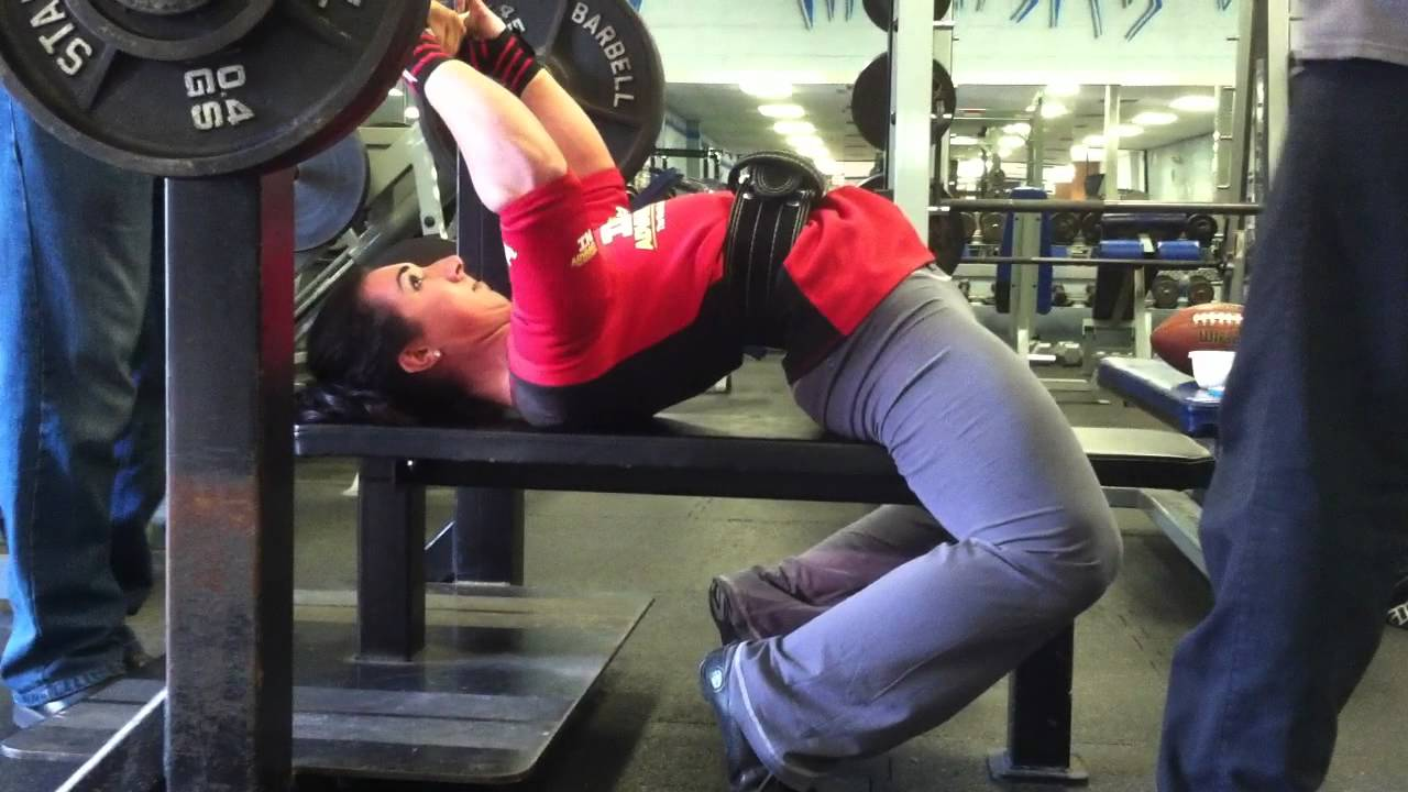 Megan Abshire Practicing Benching 325lbs Youtube