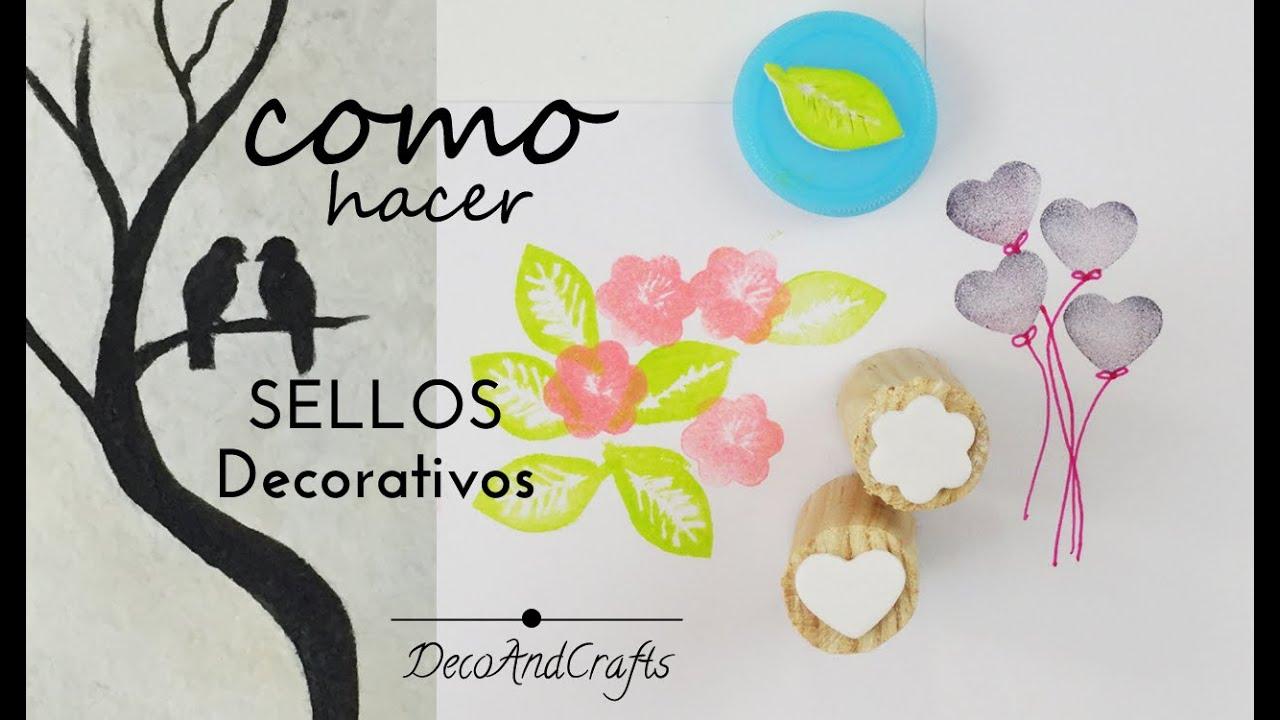 Como hacer sellos caseros decorativos diy decoandcrafts for Como hacer espejos decorativos
