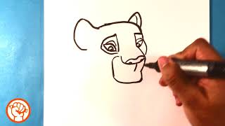 How to Draw Nala   Drawing  Lion King   Easy Pictures to Draw