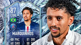 PERFECT LINK TO NEYMAR! 🤩 87 FREEZE MARQUINHOS PLAYER REVIEW! - FIFA 21 Ultimate Team