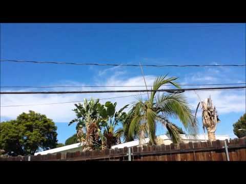 HEAVY CHEMTRAILS SECOND DAY IN A ROW IN WEST COVINA CALIFORNIA OCT-4-14