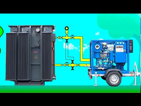 Oil reclamation: Connecting the oil degassing unit to a transformer