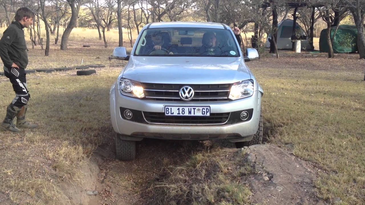 Vw Amarok Wow Deep Holes Almost Tipping Doovi