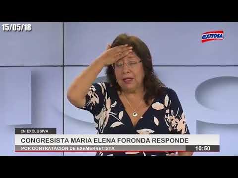 Entrevista a la congresista María Elena Foronda en Exitosa