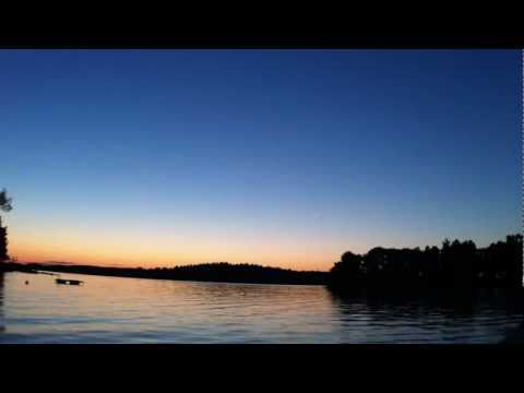 90 minutes sunset in Scandinavia